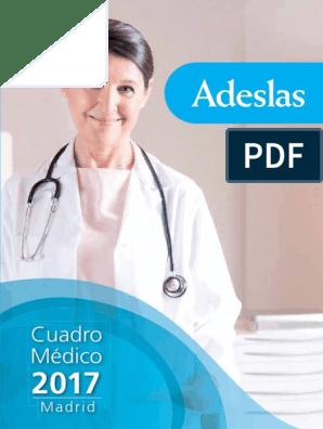 Cuadro Médico Adeslas Madrid Cuadrosmedicos Com