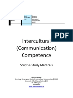 Intercultural Communication Competencies Study Material