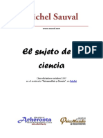 El Sujeto de La Ciencia Sauval Michel