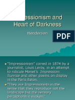 Impressionism and Heart of Darkness