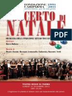 Concerto Natale Parma 2012 broschure