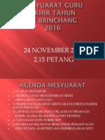 Agenda Mesyuarat Akhir Thn 2016