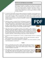 Práctica Sistema de Ecuaciones 4to