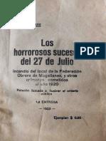 """Marcolin Piado - """"Los Horrorosos sucesos del 27 de Julio"""""""