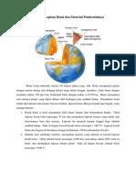 Struktur Lapisan Bumi Dan Material