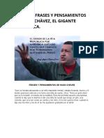 Algunas Frases y Pensamientos de Hugo Chàvez