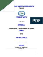 Organizacion de Eventos y Proyectos Tarea 2
