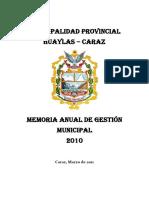 Memoria Anual 2010 - MPH