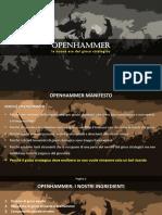 Openhammer - Manifesto