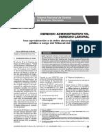 Derecho Laboral vs. Derecho Administrati