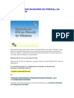 Como bloquear invasores no Firewall da rede Microsoft Windows