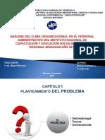 Análisis Del Clima Organizacional en El Personal Administrativo