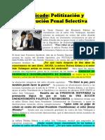 Ratificado Politización Persecución Penal Selectiva