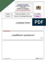 Corrigé-Amplificateurs-opérationnels