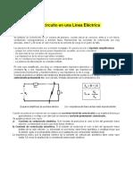 Cortocircuito en Una Línea Eléctrica