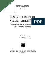 Informe Mcbride Un Solo Mundo Voces Multiples - Unesdoc - Unesco