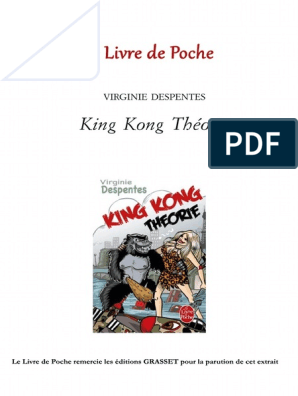 King Kong Theorie Despentes Extrait