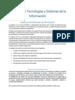Auditoria de Tecnologías y Sistemas de La Información