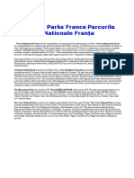 National Parks France Parcurile Nationale Franţa