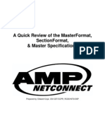 A Quick Review of the Master Format