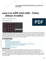Akai Pro MPK Mini MkII - How to Use the Editor