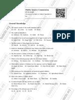 Psc Mcq Sample Paper 1 Mathcity.org