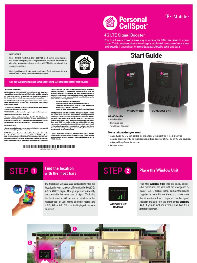 4G LTE Signal Booster Start Guide (English) | T Mobile Us | 4 G