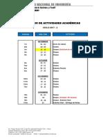 Calendario Ciclo Academico 2017- 2