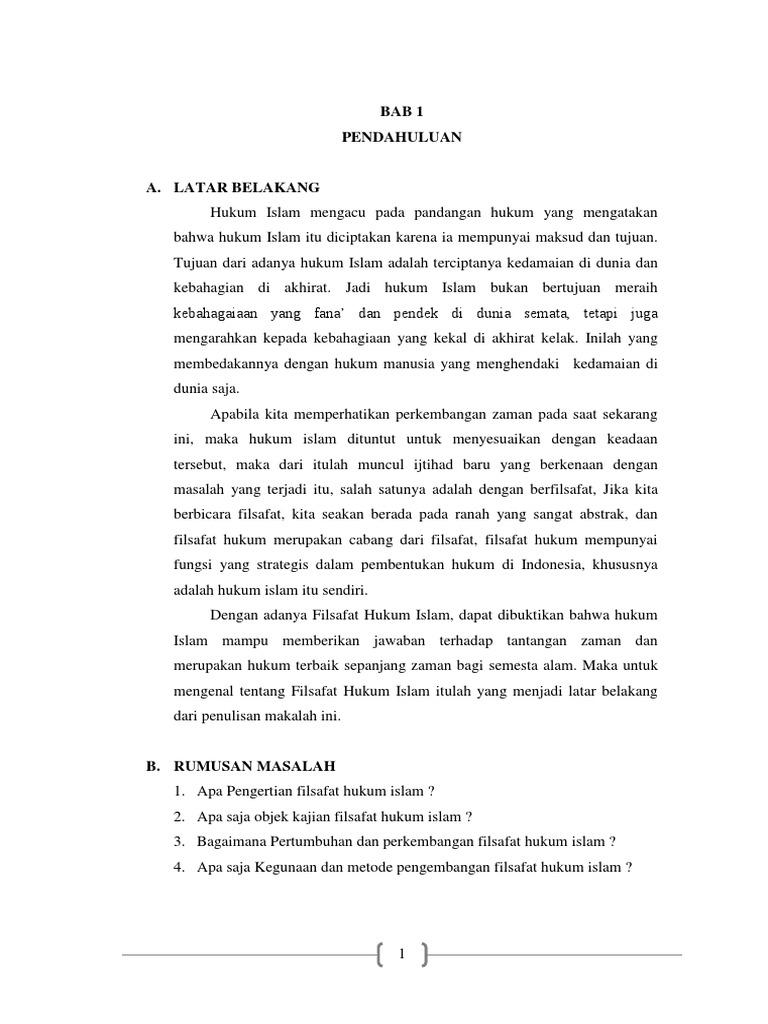 Makalah Filsafat Hukum Islam
