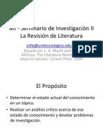 Sesion El Proceso de Revision de Literatura