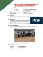 MEMORIA DESCRIPTIVA CON FINES DE SANEAMIENTO FISICO-LEGAL DE DONACION DE TERRENO