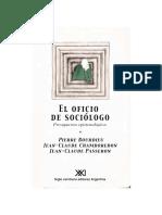 Introducción El Oficio de Sociólogo