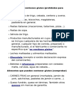 Alimentos Permitidos y No permitidos Gluten free enfermedad celiaca PDF