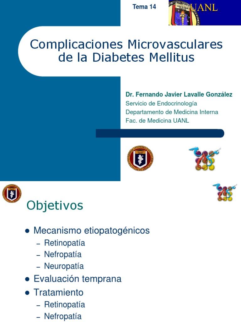 microangiopatía diabetes fisiopatología ppt