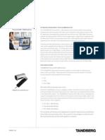 TANDBERG PrecisionHD USB Camera Optimized for OCS User Guide