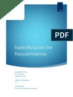 Especificacion de Requerimientos