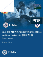 Incident Command System (ICS) 200 Student Manual