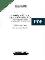 Carr - El Planteamiento Naturalista de La Teoría y La Práctica Educativa