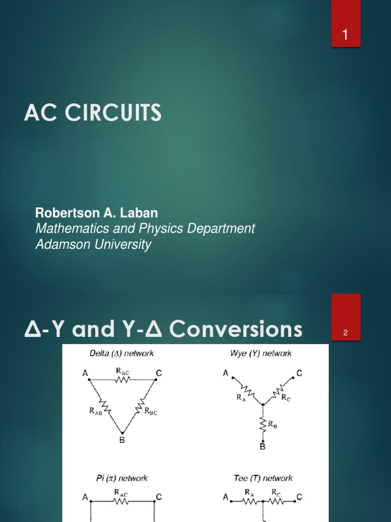 AC Circuits | Electronic Filter | Electrical Network