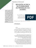 Reflexões Acerca Da Possibilidade de Prevenção Do Autismo