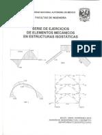 Serie de ejercicios de elementos mecánicos en estructuras isostáicas. UNAM..pdf
