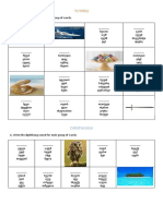 Vowels and diphthongs
