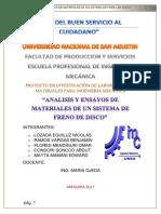 Proyecto de Investigacion de Laboratorio de Materiales
