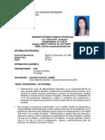 Hoja de Vida Actualizada Jennifer Camacho