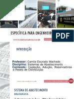 Aula Sistemas de Abastecimento - Prof Camilla