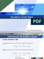 Clase 3 Equilibrio Ácido Base Introducción y Aspectos Cualitativos
