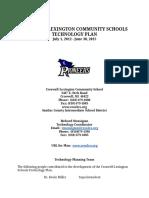 Croswell_ Lexington Technology Plan 2012-2015