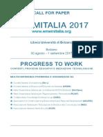 Call for Paper Emem Italia 2017