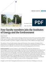 Four faculty members join the Institutes of Energy and the Environment | Penn State University
