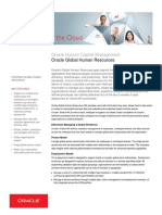 Oracle Hcm Global Hr Datasheet